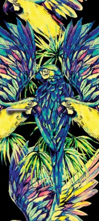 deursticker papegaai