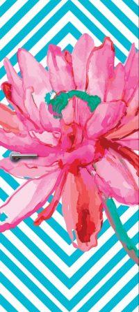 deursticker bloem