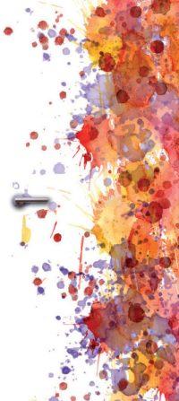 deurdesign patroon kleurrijk