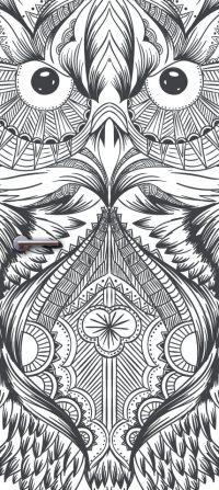 deurdesign deursticker patroon uil owl