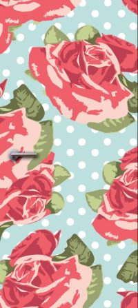 deurdesign patroon bloemen