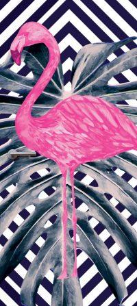 deurdesign patroon flamingo