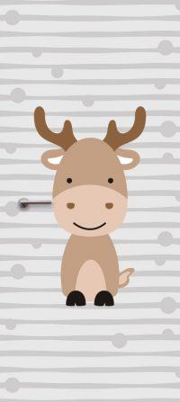 deursticker-kinderkamer-eland-grijs