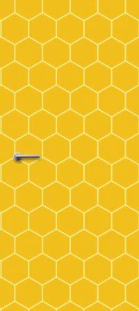 deursticker geel