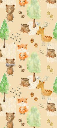 deursticker-kinderkamer-dieren-bos-beer