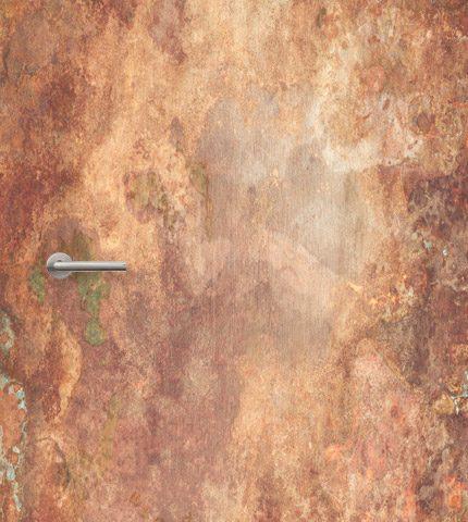 deursticker roestig koper