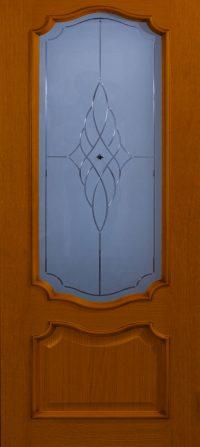 Klassieke deur met glas – kersen