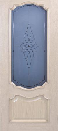 Klassieke voordeur met glas – whitewash